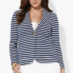 RALPH LAUREN Navy Striped Jacket Size Small